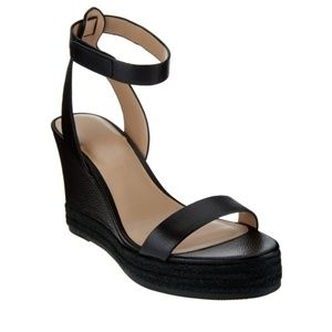 H by Halston - Leather Espardrille Wedges
